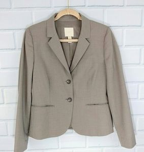 J Crew Gray Wool 2 Button Blazer Size 10 Tall